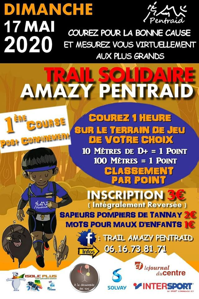 [17/05/2020] Trail solidaire Amazy Pentraid