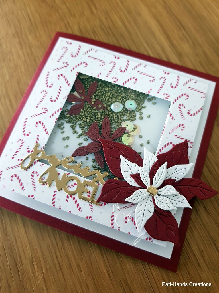 Shaker Card Poinsettia