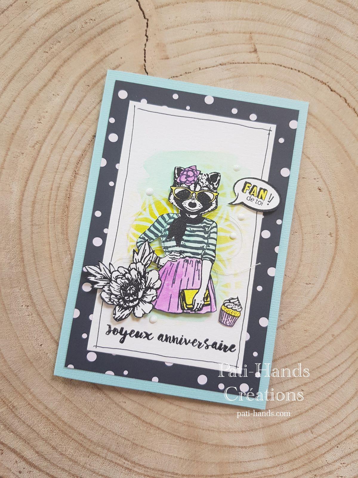 Carte Anniversaire Panda Fan de toi