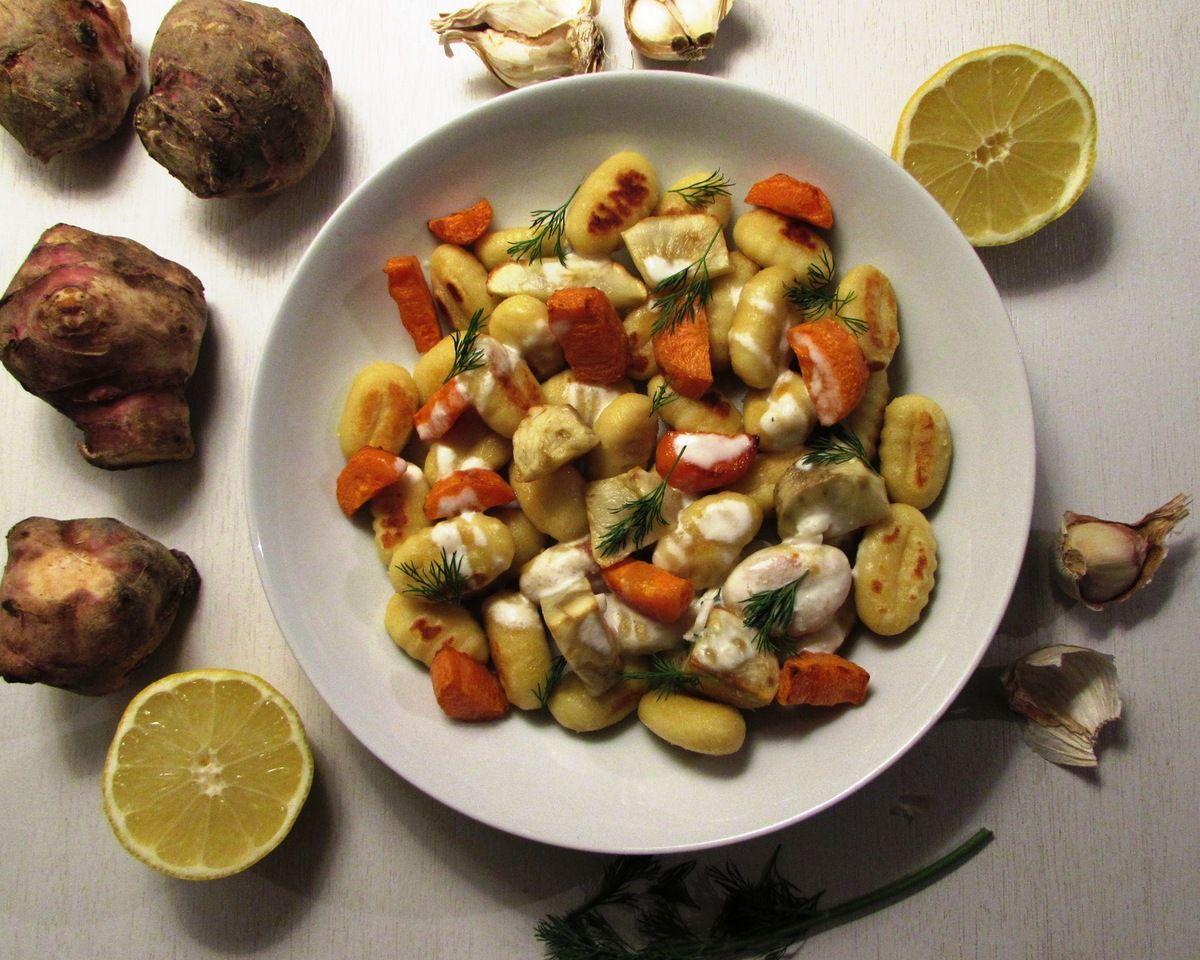 Gnocchis aux légumes d'hiver
