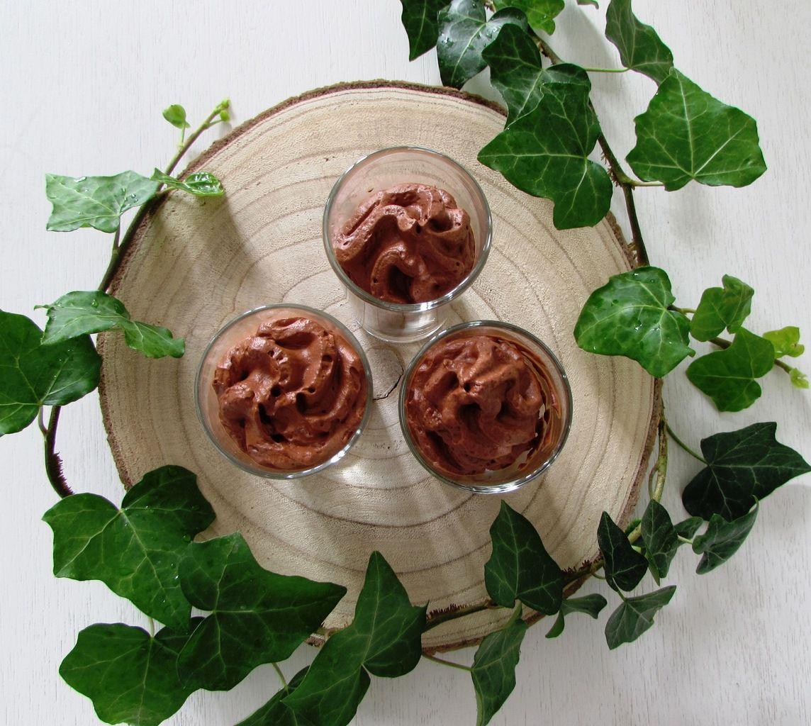 Mousse au chocolat vegan au siphon