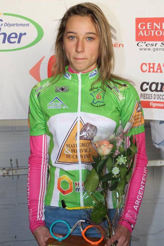 Après deux épreuves Océane GEORGEN est leader du Challenge Cœur de France catégorie cadettes (Photo Pascal VIGOT https://www.facebook.com/Photo-VIGOT-248908968832094/)