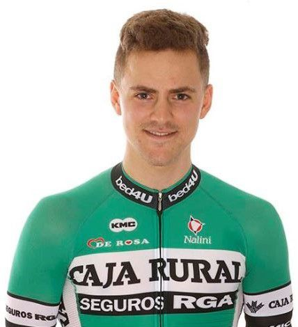 Photo : Yannis YSSAAD AVS95 membre du l'équipe cycliste professionnelle ''Team Caja Rural Seguros RGA3'' (Photo https://www.teamcajarural-segurosrga.com/en/)