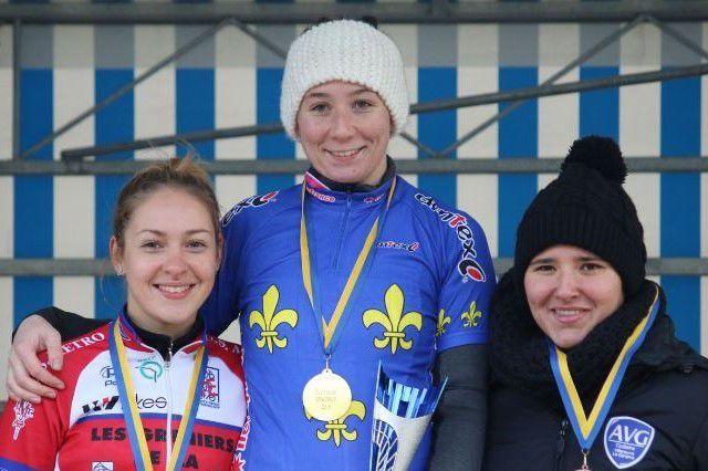 Lisa HUBER championne IDF de cyclo-cross Espoirs femmes à Jablines le 10/12/17