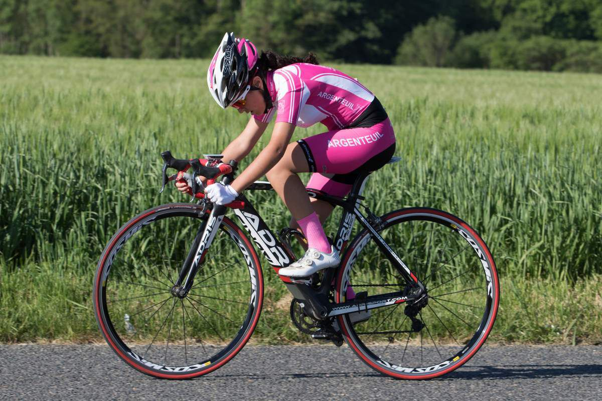 Shirine LETAILLEUR AVS95 lors du CLM Presles-en-Brie – 24e au général (Photo Vélostrar http://velostarfr.blogspot.fr/p/photo.html)