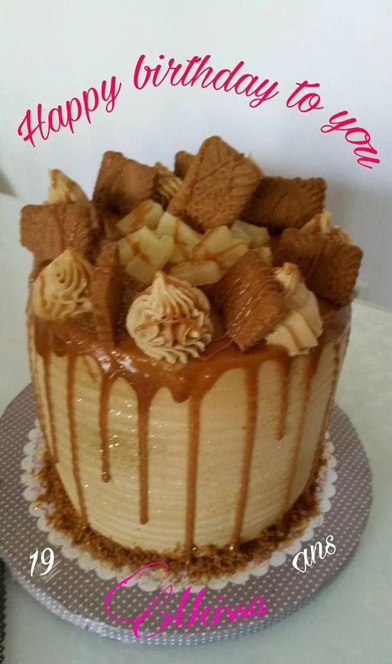layer cake speculoos, poires et caramel