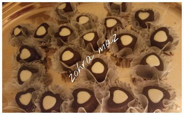 Coeur chocolaté coco/pralin
