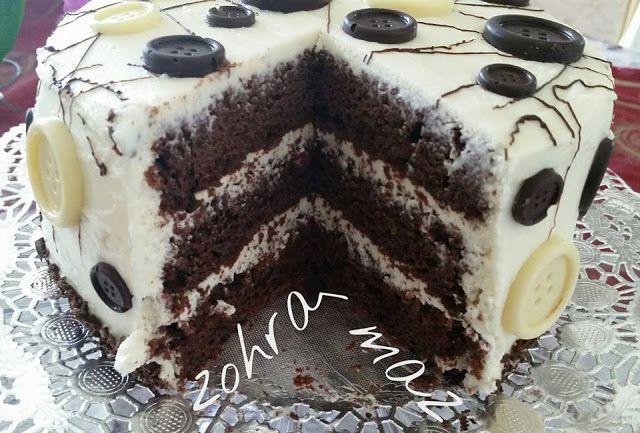 Layer cake choco/vanille