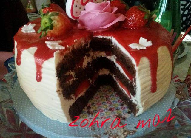Layer cake Choco/fraises