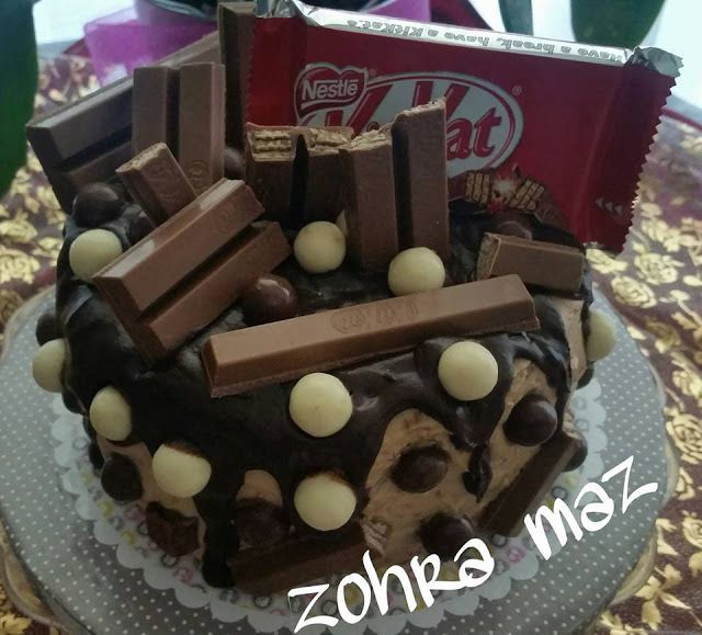 Crazy layer cake au gout kitkat