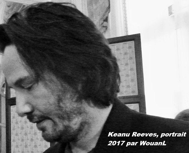 KEANU REEVES ALBUM-PHOTOS 2017: JOHN WICK 2 PROMOTION A PARIS ( PARTIE 1,) 7 PHOTOS N&B
