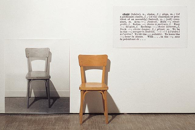 Joseph Kosuth, One and three chairs, 1965