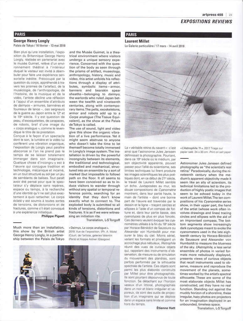 Quelques publications... art press, /art absolument/ & catalogue Matsutani à Cracovie