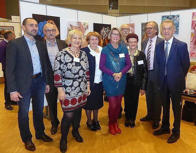 La délégation auxerroise accompagnée des organisateurs et élus locaux