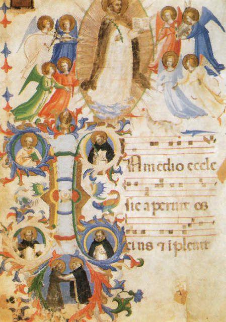 Fra Angelico : Enluminures de manuscrit (détail)