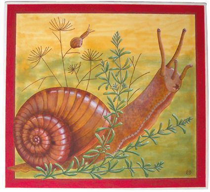 tableau peinture escargot