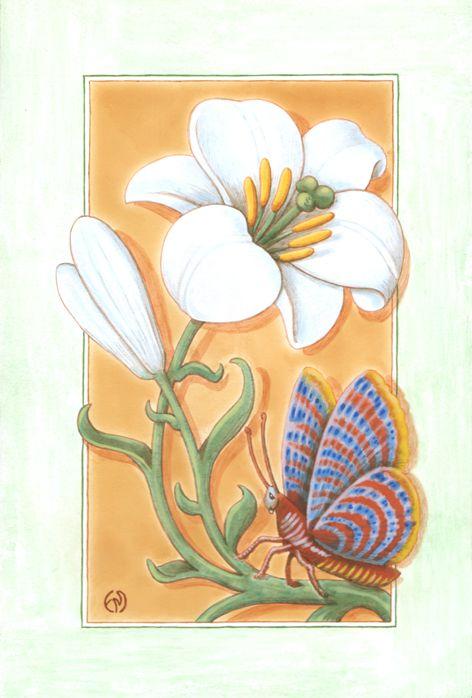 tableau peinture lys