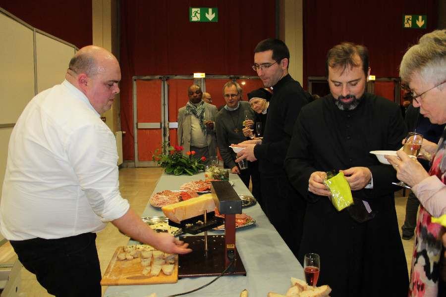 La rencontre fraternelle des Vœux avec Mgr Stanislas Lalanne à Ermont-Zyczenia noworoczne biskupa diecezji Pontoise Stanislawa Lalanne.