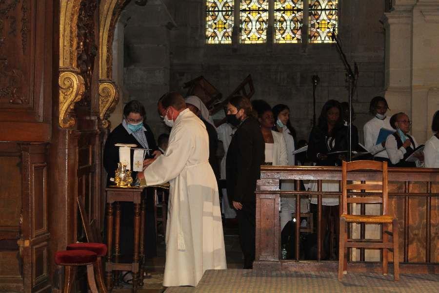 préparation de la messe