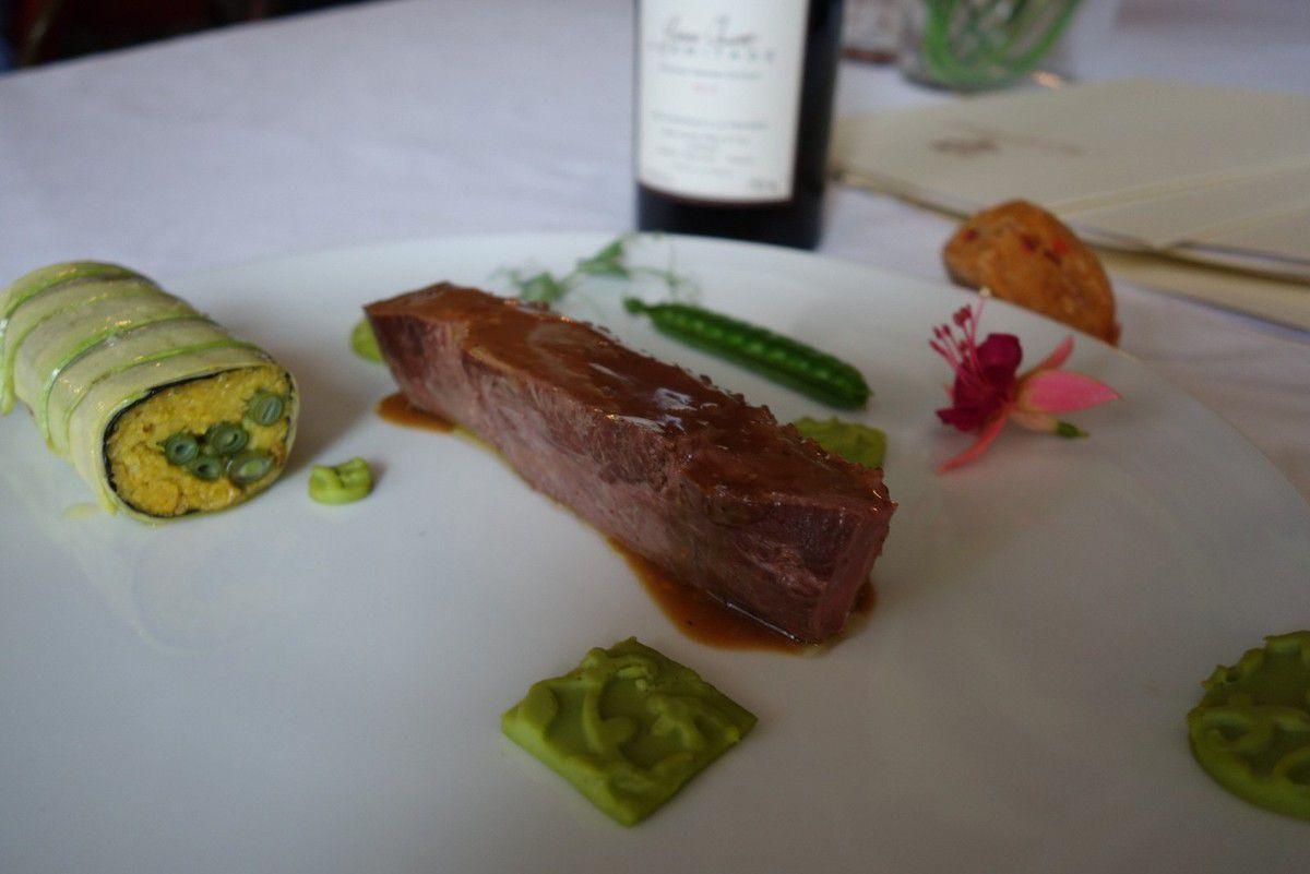 Le plat principal était proposé par Christophe Chiavola.