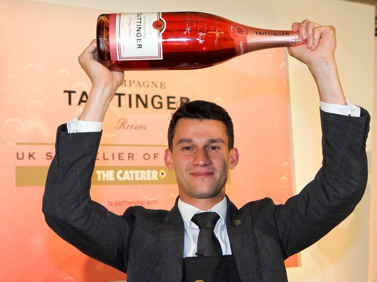 Alexandre Freguin est le nouveau Meilleur sommelier d'Angleterre. Photo JB