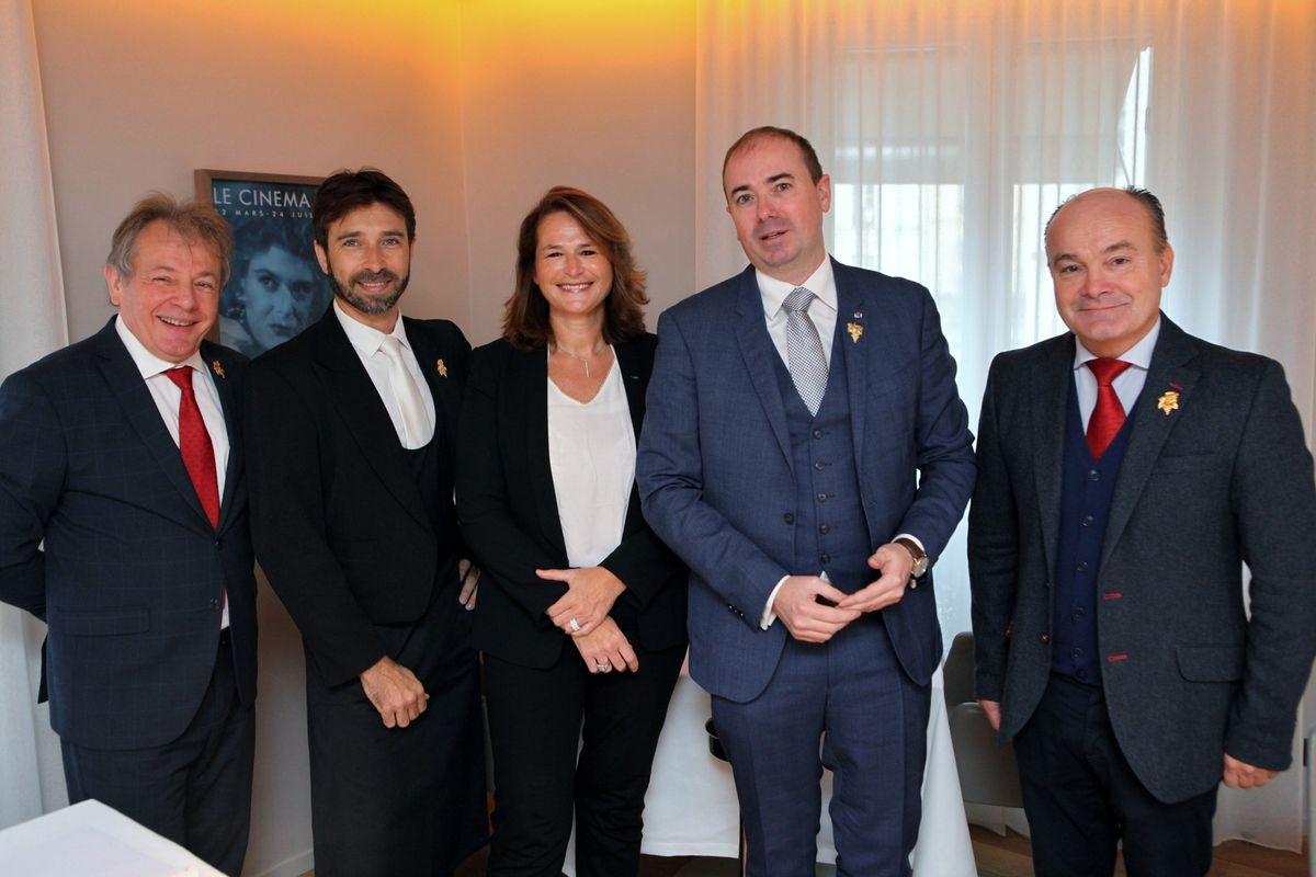 Jean-Luc Jamrozik, Dominique Laporte, Carole Duparc, Benjamin Roffet et Olivier Poussier. (Photo JB)