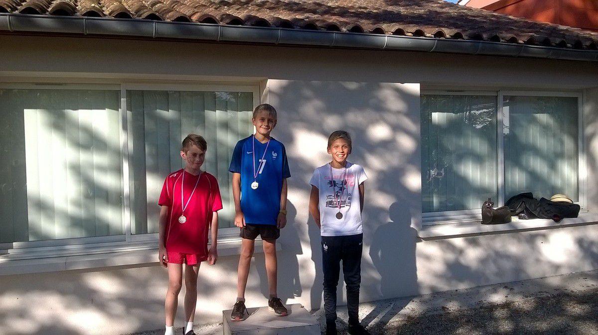 Benjamins - GERVAISE Jules (argent) - WINOCK Vianney (or)- MELIET Paul (bronze)