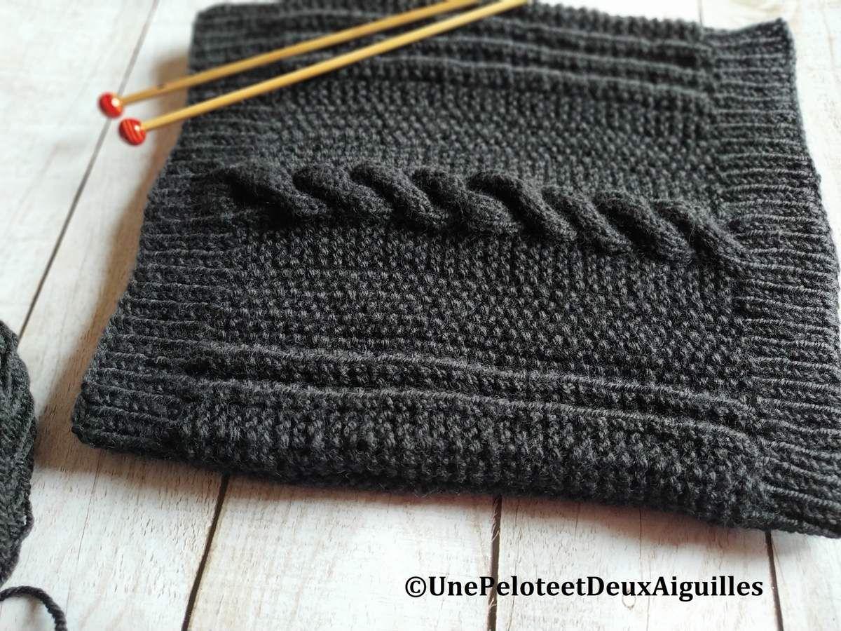 Tuto tricot de snood gratuit Copyright © 2019 unepeloteetdeuxaiguilles.com