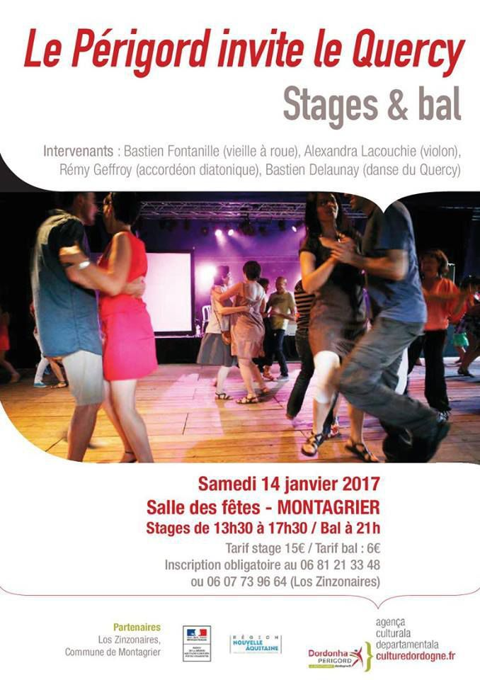 14 janvier, stage de vielle animé par Bastien Fontanille (Montagrier 24)
