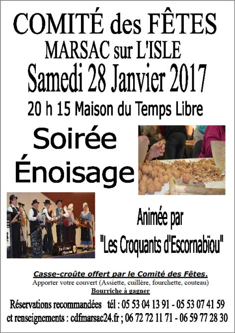 Soirée Énoisage à Marsac le 28 Janvier... et aprés on danse!!!!