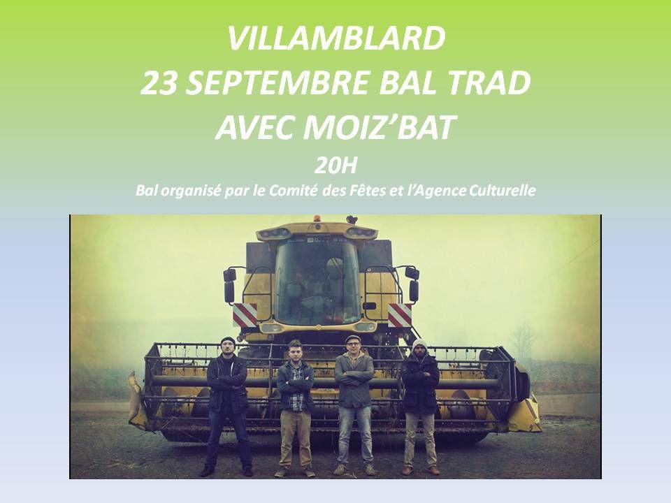 BAL TRAD A VILLAMBLARD LE 23 SEPTEMBRE