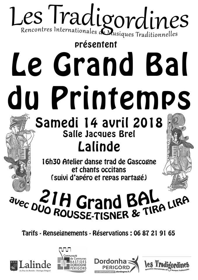 GRAND BAL DE PRINTEMPS A LALINDE LE 14 AVRIL
