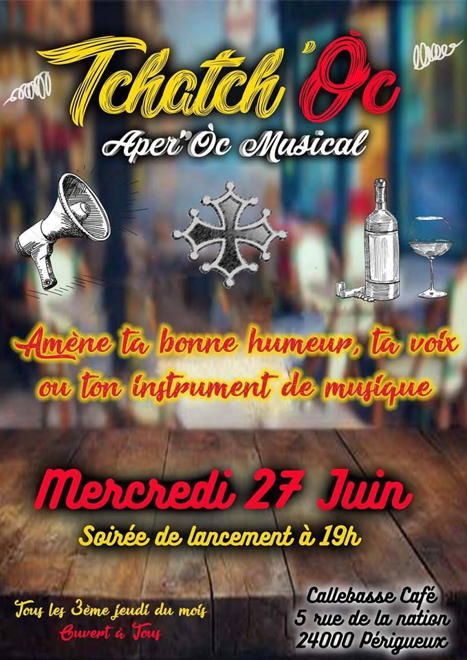 Mercredi 27 juin au Bar la Calebasse à Périgueux à 19h, un endroit où l'on s'exprime aussi en musique.