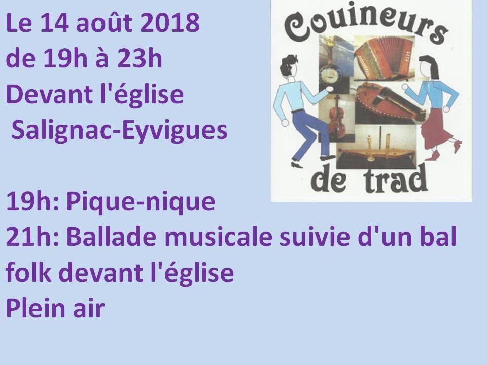 Bal Trad à Salignac Eyvigues le 14 août