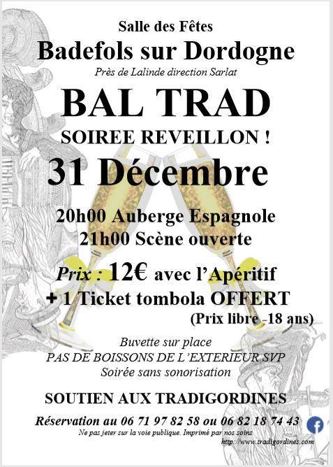 Réveillon Trad le 31 Décembre à Badefols sur Dordogne