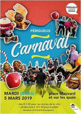 Carnaval de Périgueux le 5 mars, concert trad à 17H30