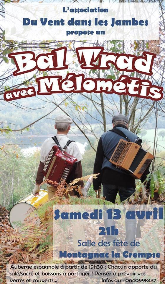 Bal Trad le 13 avril à Montagnac La Crempse