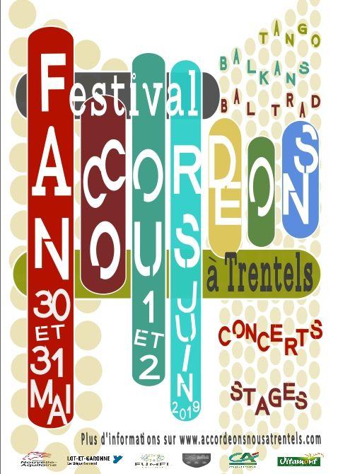 Festival Accordéons-Nous à Trentels - 30 mai 2019 au 2 juin 2019