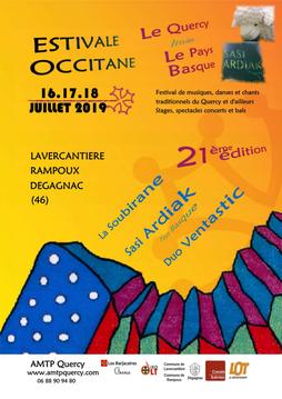 21ème Édition de l'Estivale Occitane de Dégagnac - Lavercantière  - les 16, 17 et 18 juillet 2019.