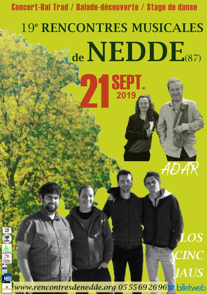 21 septembre, rencontres musicales de Nedde (87)