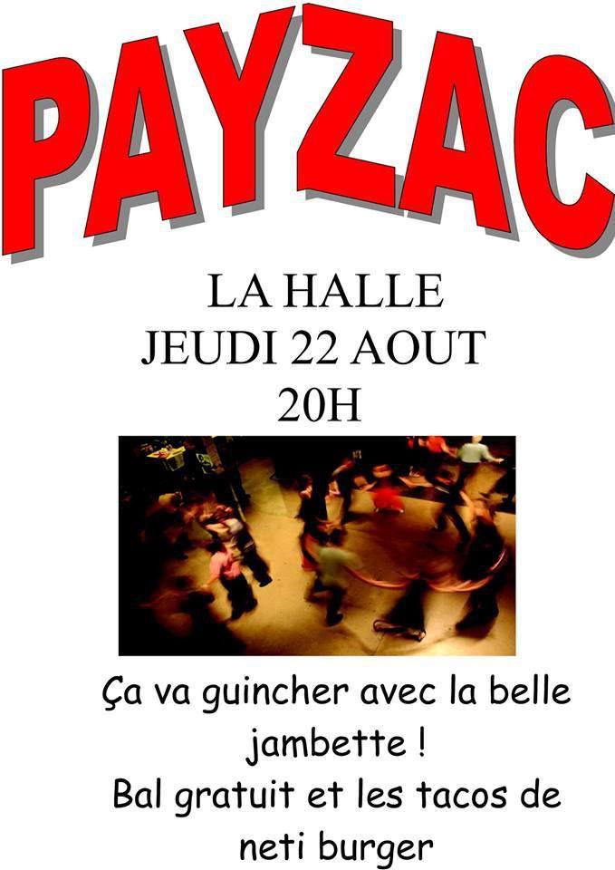 bal à Payzac jeudi 22 août avec La Jambette.