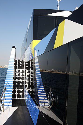 Yacht Guilty, une « oeuvre d'art flottante », signée Jeff Koons