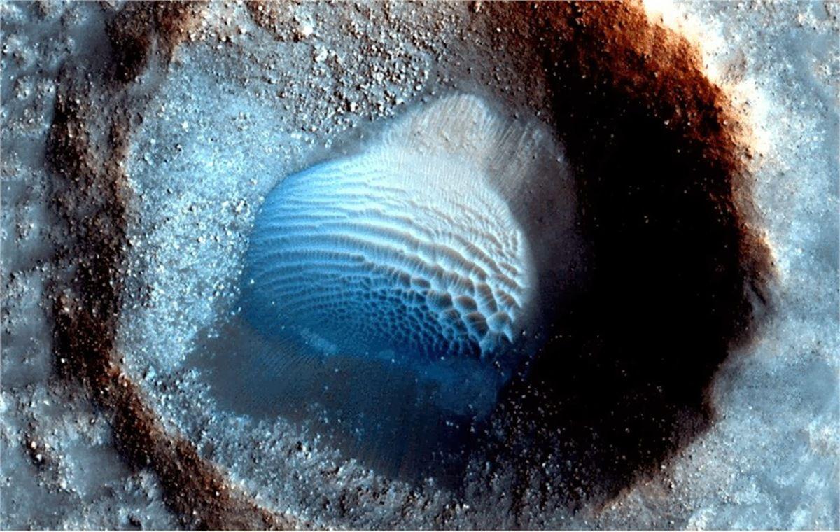 Cliché de Mars Global Surveyor Acidalia Planitia