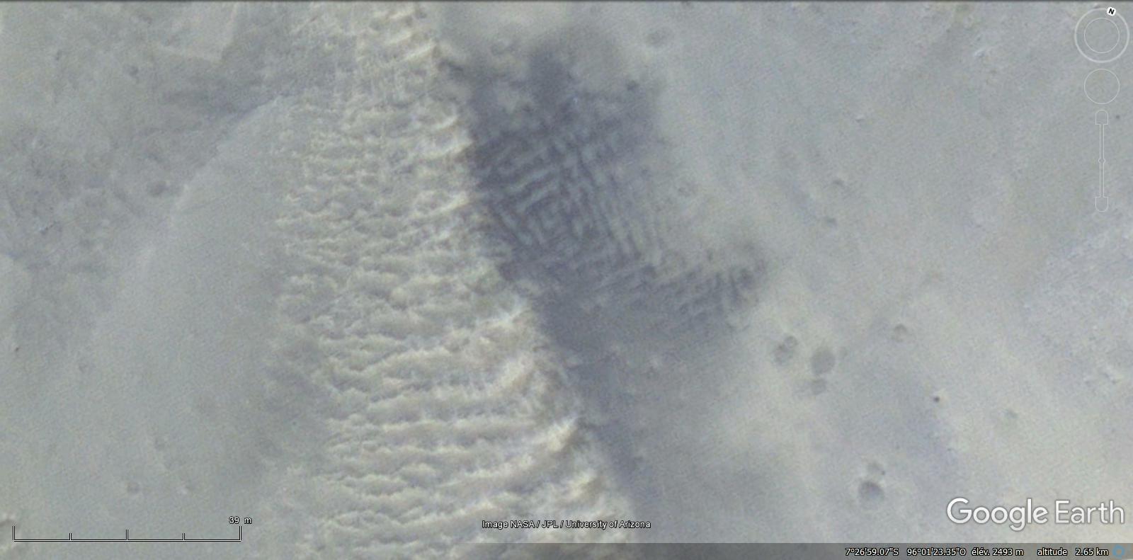 L'eau liquide sur Mars