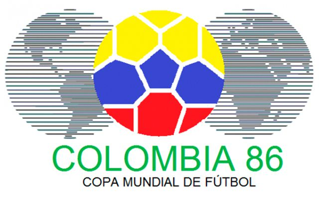 L'acerbo logo di Colombia '86, mai rifinito come tutto il resto dell'organizzazione
