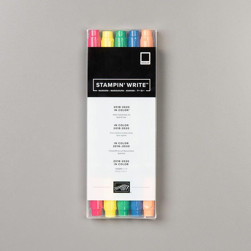 In Color 2018–2020 Stampin' Write Markersréf : 147159    prix : 7,50 €