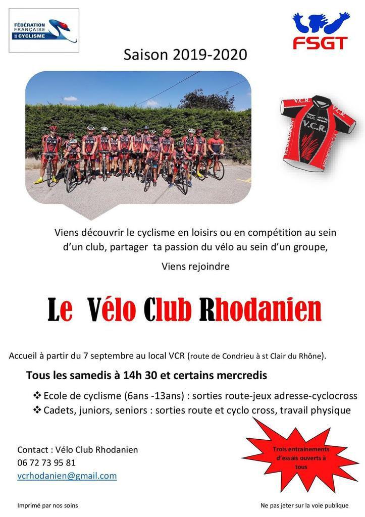 Viens rejoindre le vélo club rhodanien !
