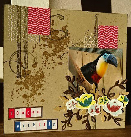 Scrapbooking: Toucan Vitellin (2018-8).