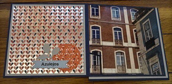 """Mini-Album Pyramide décalée """"Lisbonne""""."""