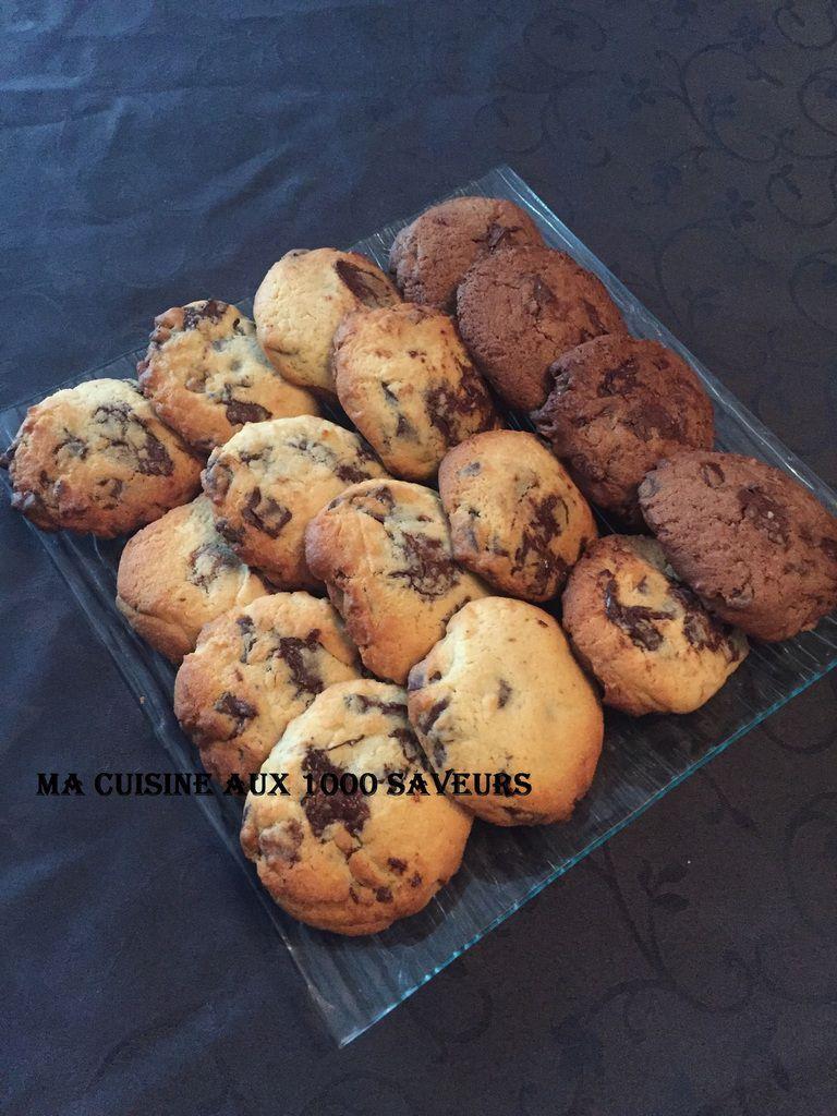 cookies maison pépites chocolat et tout chocolat